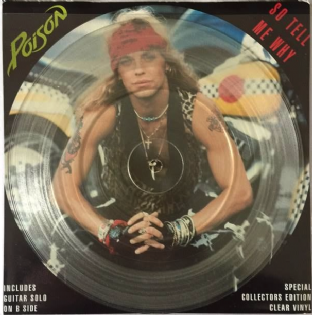 "Poison ‎- So Tell Me Why (7"") (Clear Vinyl) (EX/EX-)"